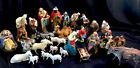 Vintage Italian Nativity Set Christmas Manger Scene 30 Figures Made In Italy