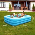 103x 69 Above Ground Family Swimming Pool Inflatable Water Pool for 7 Kids