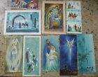 Vintage Christmas Cards Nativity 1950s California Artists Artist Signed Display