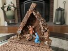 Vintage Nativity Manger Scene 8 Figures Made In Italy