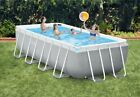 Intex 16FTx8FTx42in Rectangular Prism Frame swimming Pool Set With Filter Pump