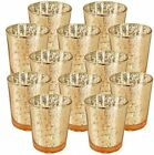 Just Artifacts Mercury Glass Votive Candle Holder 275 H 12pcs Speckled Gold