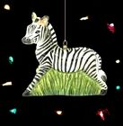 Zebra blown glass Christmas ornament Strongwater animal nature Africa