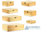 Wooden Storage Boxes Small  Large Plain Gift Idea Memory Keepsake Box with Lid
