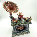 Vintage Christmas Mr Mrs Clause Dancing Toys Holiday Phonograph Music Box