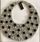 BCBG MAX AZRIA FLORAL GLASS STONE COLLAR STATEMENT NECKLACE