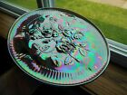 Summit Carnival Glass 3 Footed Open Rose 95 X 15 Platter Great Iridescence