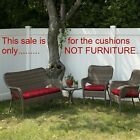3 Pc Outdoor Wicker Patio CUSHION Set 1 Settee  2 Chair Red NEW