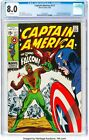 Captain America #117 09 69 CGC 8.0 1ST APPEARANCE FALCON AND REDWING WHITE PAGES