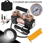 Double Cylinder Air Pump Compressor 12V 150 psi Heavy Duty Car Tire Inflator