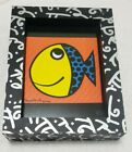 Romero Britto Inc 1990 96 Framed Fish Signed Limited Edition 99 of 1000