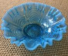 Antique Blue Fenton Opalescent Pattern Glass Dish MINT RARE Late 1800sOriginal