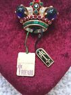 Trifari Alfred Philippe Faux Blue Sapphire Crown Brooch small 4889