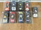303 LOT OF 9 NASCAR 1 24 DIE CAST Cars Vintage 1990s Used in Plastic cases