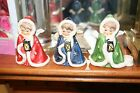Lot of 3 1958 Ronson Green Blue  Red Hummel Goebel Nativity Christmas Angels