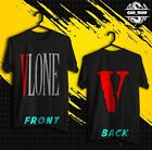 HOT  New Vintage Red VLONE Hip Hop Black Men T shirt Size S 2XL Fast Shipping
