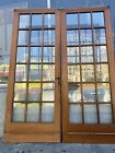 Arts And Crafts Style French Doors 18 Pane Glass 79x30