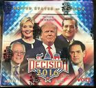 Decision 2016 SEALED Series 1 Hobby Box Trump, Sanders, Clinton Autos Discounts