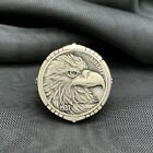 925 Sterling Silver Eagle Head 1937 Liberty Coin Mens Ring No Stone