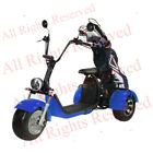 SoverSky Electric 3 Wheeler Moped for Adults 2000w Lithium Tricycle T71 Blue