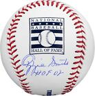 Autographed Ozzie Smith St. Louis Cardinals Signed Hall of Fame Baseball w Insc