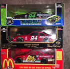 1 24 Diecast Cars Bill Elliot Lot Of 3 McDonalds THUNDERBAT Monopoly NASCAR