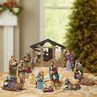 Christmas Kirkland Signature Hand Painted Nativity Set 13 pc