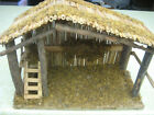 Large Wooden Nativity Stable FREE SHIPPING