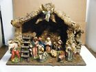 Vtg Italian Presepio Nativity Set 10 Figures Mary Joseph Baby Jesus Kings HUT