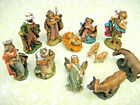 Vintage 13 Piece Christmas Nativity Set Resin Made in Italy FREE SHIPPING