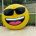 Giant 6ft x 2ft Heat Stretched Inflatable Smiley Face Island Pool float Blow Up