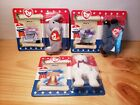 TY McDONALD'S BEANIE BABIES~AMERICAN TRIO~LIBEARTY~RIGHTY~LEFTY- New in Box
