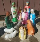 Vintage Empire Nativity Set 11 Piece Blow Mold Yard Decor Scene Lighted