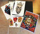 Alan Forbes signed  d print set + tattoo flash set w stickers The Raven knows