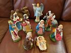 Vintage FONTANINI Italy Nativity Set Paper Mache Figures 11 Wise Men King 75