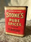 Antique STONES Spice Tin Turmeric The Mills Duluth MN
