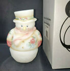FENTON SNOWMAN FAIRY LIGHT WITH ROSES QVC