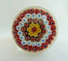RARE Vintage Millefiori Glass Perfume Bottle Decanter Stopper Paperweight Desgn