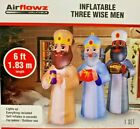 NEW 6 FT WIDE 55 FT TALL CHRISTMAS NATIVITY THREE WISEMEN AIRFLOWZ INFLATABLE