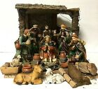 Vintage 20 Piece Silvestri Ceramic Nativity Creche Manger Stable Christmas Set