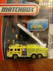 MATCHBOX PIERCE QUANTUM AERIAL LADDER TRUCK REAL WORKING RIGS 2008 MFG YEAR