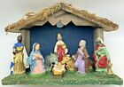 Vintage Nativity Creche Stable Set Italy Christmas Baby Jesus Mary Joseph