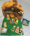 Cloth Christmas Nativity Play Set Finger Puppets Silent Night Book Carry Case