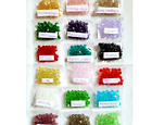 19 colors x 40pc color Lot of 6mm KYL Precision Cut Precious Crystal Beads