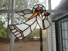 Christmas Angel Suncatcher Leaded Stained Glass Large 85x11 Vintage