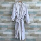 Four Seasons Hotel Luxury Terry Lined Spa Robe White Satin Womens One Size OS