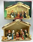 Christmas Children Nativity Set with Stable 2003 Porcelain Home For The Holidays