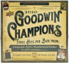 2020 UPPER DECK UD GOODWIN CHAMPIONS HOBBY BOX SET BRAND NEW FACTORY SEALED CASE