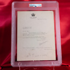 PSA Signed and Encapsulated Harry Houdini Letter to Oscar S. Teale RARE