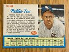 1962 Post Cereal #47 Nellie Fox Chicago White Sox Very well Cut